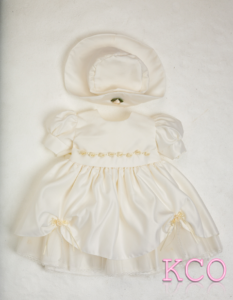 York flower Dress Ivory ~ girls dress